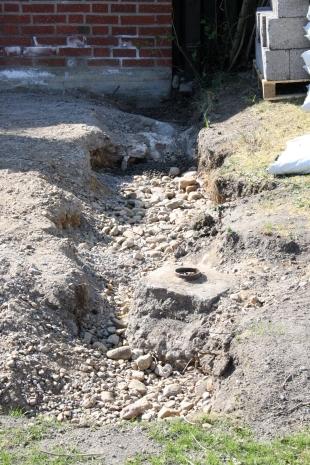Gräv ut för grundmur och dränering