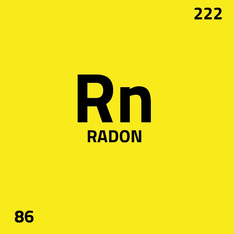 Hoga halter radon i vatten