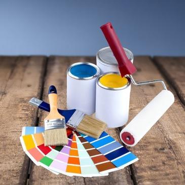 41102754 - paint, paint can, paintbrush.